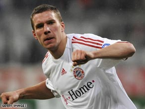 Podolski is back in the Germany squad after scoring three goals in three games for Bayern Munich.