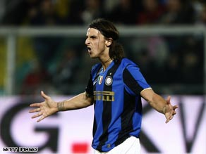 Ibrahimovic's goals have kept Inter clear at the top in Italy.