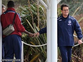 England coach Fabio Capello appears reluctant to let go of top-rated Tottenham defender Ledley King.