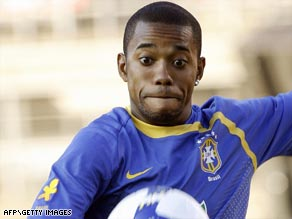 "Robinho is ""upset and disappointed"" at comments attributed to Pele regarding the use of drugs."