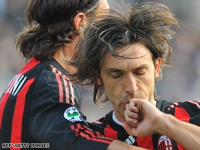 Andrea Pirlo playing for AC Milan.