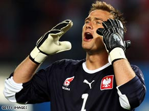 Keeper Boruc has been held responsible for Poland's World Cup qualifying defeat in Belfast.