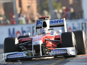 Trulli was handed a 25-second penalty  by race stewards after last weekend's Australian Grand Prix.