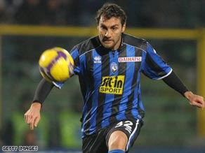 Veteran striker Vieri scored twice in nine appearances for Atalanta this season