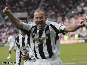 Alan Shearer is a Newcastle legend after scoring a club record 206 goals for the Magpies.