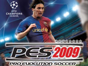 Barcelona forward Lionel Messi is the cover star of Pro Evolution Soccer 2009.