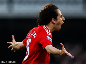 Benayoun cropped up for what could prove to be a vital goal in the title race.
