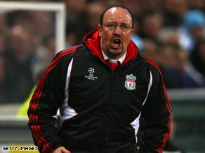 Liverpool manager Benitez could not resist another swipe at Manchester United counterpart Alex Ferguson.