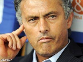 Inter Milan coach Jose Mourinho endured an uncomfortable second half at the San Siro.