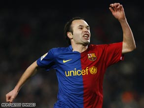 Andres Iniesta scored after just 46 seconds as Barcelona cruised to a 2-0 victory.