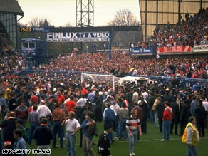 The disaster at Hillsborough football stadium in 1989 resulted in the deaths of 96 football supporters.