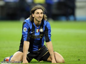 Ibrahimoviv scored the only goal at the San Siro, but Inter Milan have still bowed out of the Italian Cup.