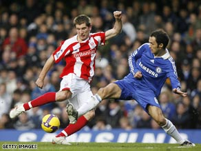 A hamstring injury has ruled Ricardo Carvalho (right) out of Chelsea's clash at the Nou Camp.