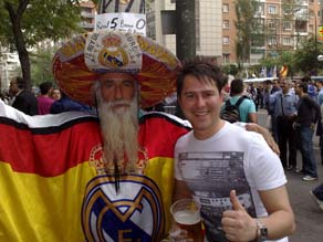 Real fan Dani Linares