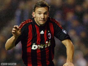Shevchenko has made just two Serie A appearances in a disappointing season for Milan.