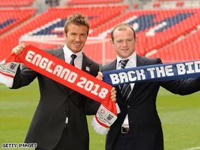 Superstars Beckham and Rooney were at Wembley to help launch England's bid for the 2018 World Cup finals.