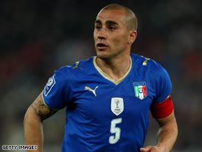 Italy captain Fabio Cannavaro won two Primera Liga titles during his three-year stay at Real Madrid.