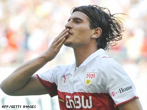 Mario Gomez spent six seasons with Stuttgart, helping them lift the Bundesliga title in 2007.