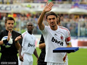 Figo was given a rousing farewell by Inter fans in the San Siro.