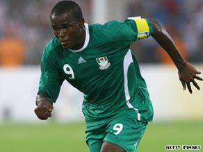 Obinna scored a late second-half double to help Nigeria cruise to a 3-0 home victory over Kenya.