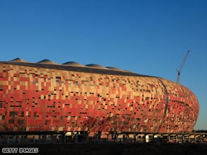 The 94,000 Soccer City in Johannesburg is the showpiece stadium of the 2010 World Cup.