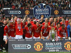 Manchester United won an English Premier League competition that was beamed into 600m homes.