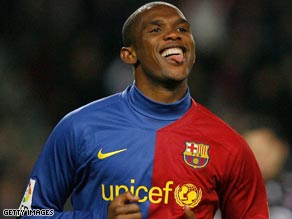 Eto'o will not be playing for Manchester City next season after the English club ended their interest in him.