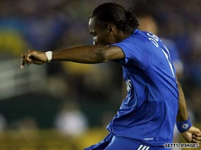 Didier Drogba scored the opening goal in Chelsea's 2-0 victory over Inter Milan on Tuesday.