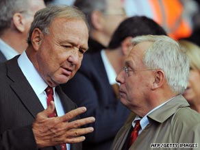Hicks (left) and Gillett have refinanced the bank loan they took out to buy Liverpool in 2007.