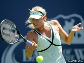 Sharapova was in imperious form as she cruised past compatriot Nadia Petrova in California.