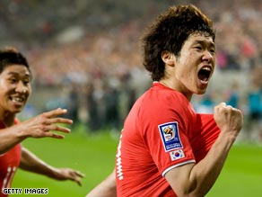 Park was a key player as South Korea qualified for the 2010 World Cup finals.