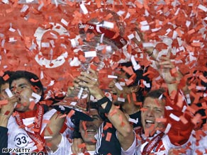 River Plate celebrate winning the 2008 Clausura but are reportedly one of the clubs with the biggest debts.