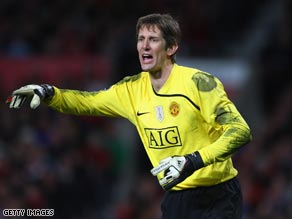 Van der Sar cut a commanding figure in the United goal last season.