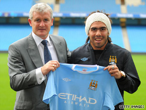 Mark Hughes will hope that new signing Carlos Tevez can help Manchester City get off to a good start.