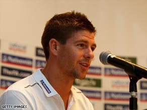 Gerrard was pulled out of the England squad as a precaution with a groin injury.