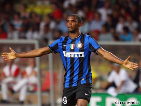 Striker Samuel Eto'o arrived at Inter as part of Zlatan Ibrahimovic's transfer to Barcelona.
