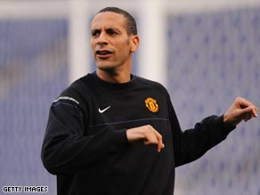 Ferdinand is struggling to recover from a thigh injury he picked up in training.
