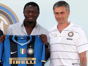 Inter midfielder Sulley Muntari was substitued Jose Mourinho for his low-energy levels as a result of fasting.