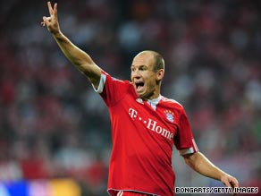 Two-goal Arjen Robben made an immediate impact following his transfer from Real Madrid.