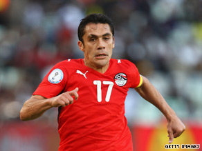 Star midfielder Ahmed Hassan scored the vital goal for Egypt in Kigali.