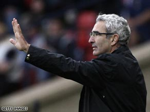 Coach Domenech's future has again come under scrutiny after reports of a rift in the France squad.