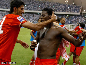 Bahrain players celebrate