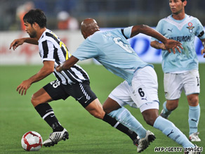 Juventus saw star midfielder Diego, left, taken off before halftime with an injury.