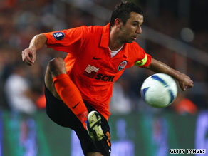 Croatian free-kick specialist Darijo Srna was on target again for Shakhtar Donetsk against Bruges.