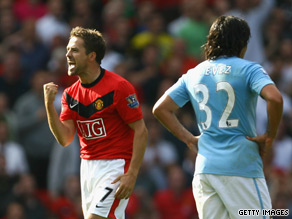 Owen's 96th minute winner at Old Trafford left Manchester City livid.