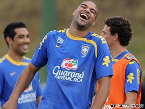 Brazili striker Adriano is now enjoying his football again after returning home to play for Flamengo.