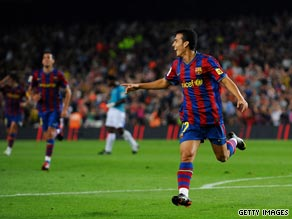 Pedro Rodriguez settled the match in the Camp Nou with his strike on the half hour mark.