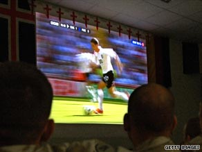 England soccer fans must pay an Internet subscription to watch England's game in Ukraine.