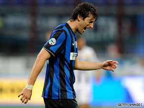 Diego Milito has had only a bit-part role for Argentina despite his good form for Inter Milan.