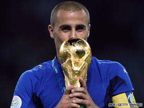 Fabioo Cannavaro's proudest moment came in 2006 when he led Italy to World Cup glory.